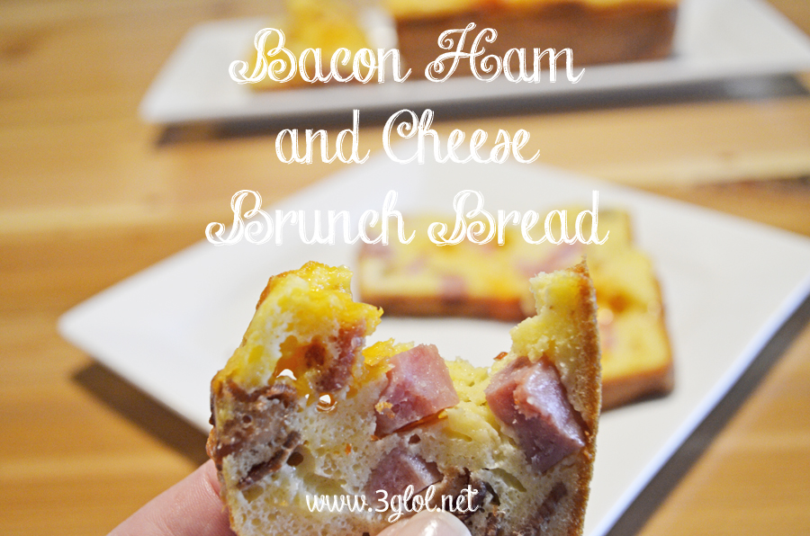 Bacon Ham and Cheese Brunch Bread